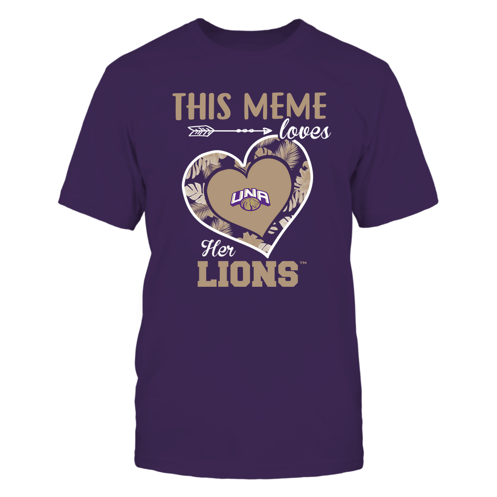 North Alabama Lions - This Meme ^ Loves Her Team ^ Heart Foliage Front picture