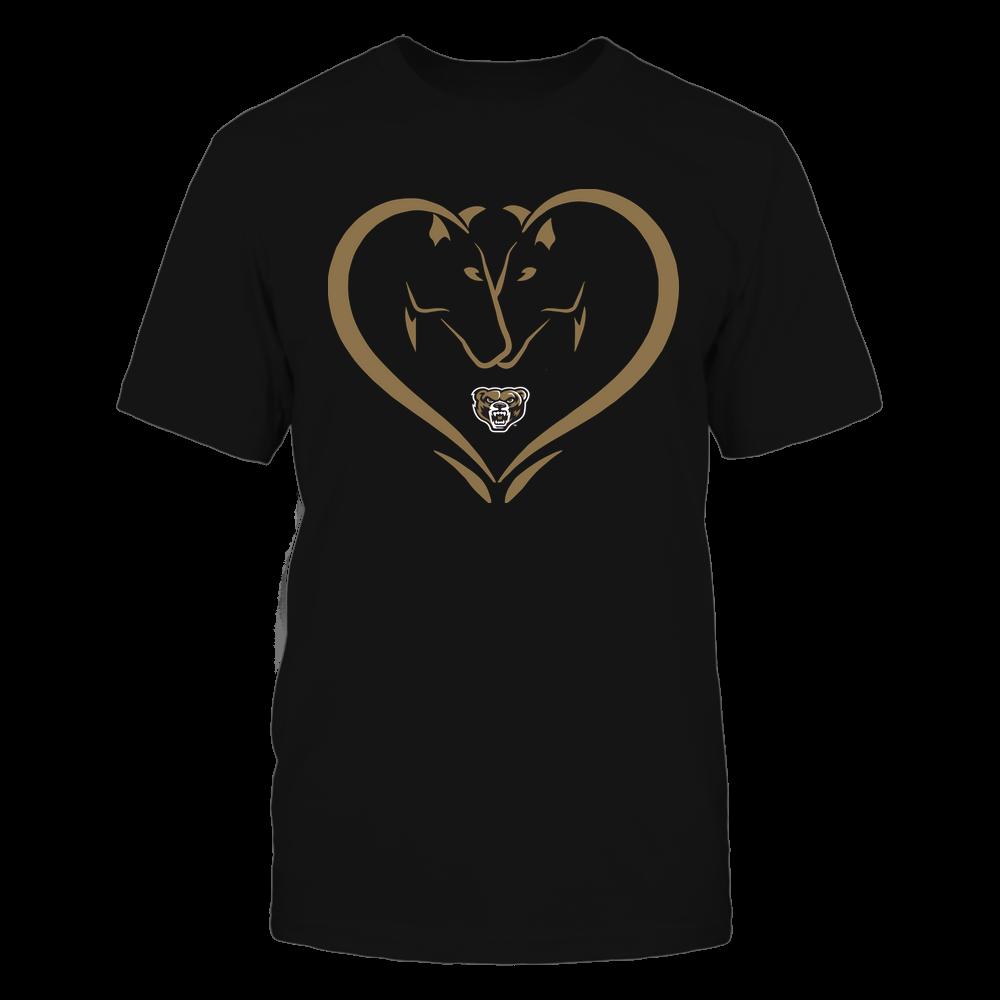 Oakland Golden Grizzlies - Dual Horses - Heart Shape - Team Front picture