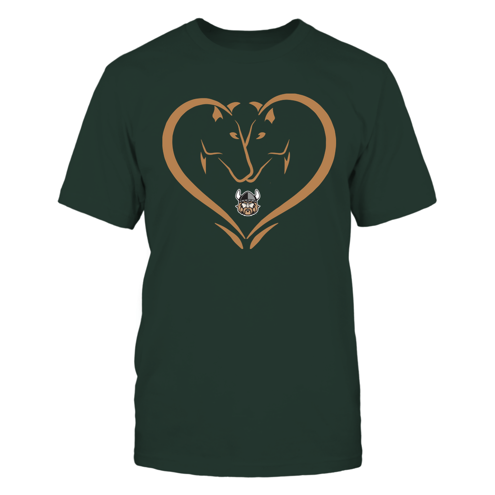 Cleveland State Vikings - Dual Horses - Heart Shape - Team Front picture