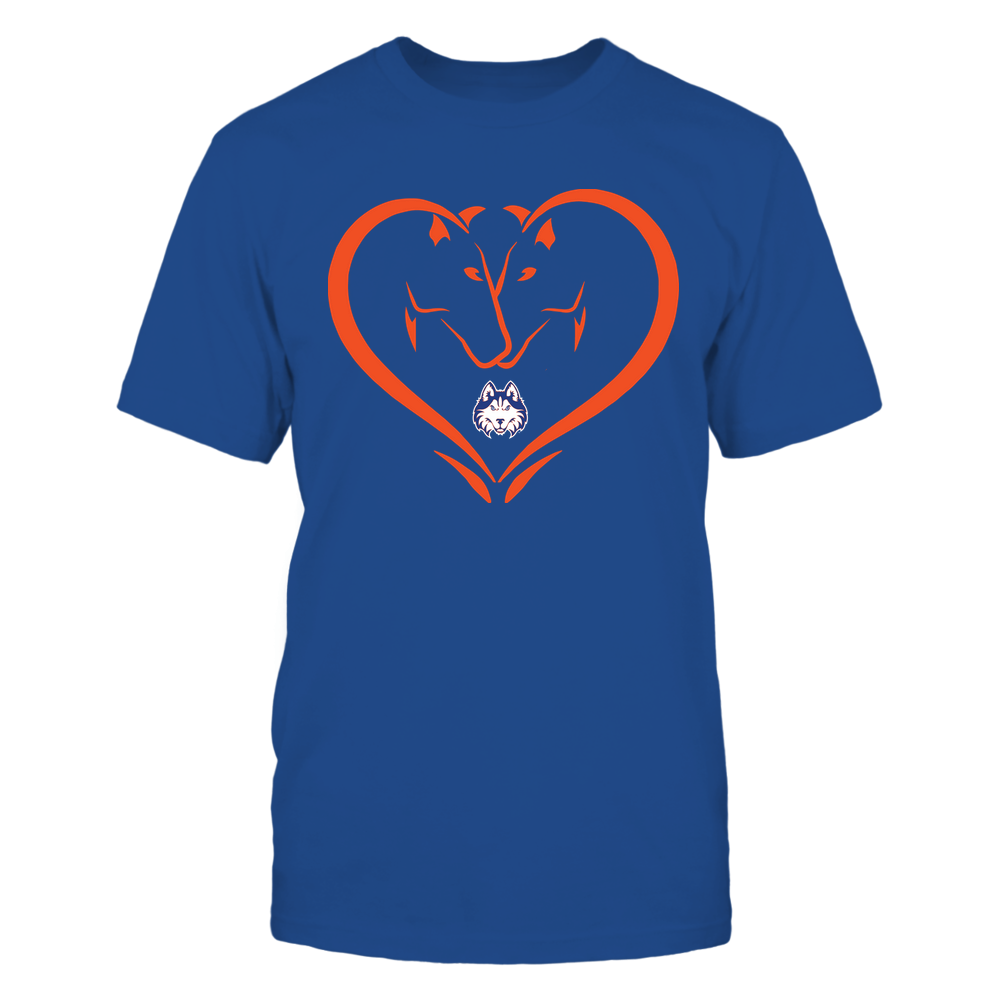 Houston Baptist Huskies - Dual Horses - Heart Shape - Team Front picture