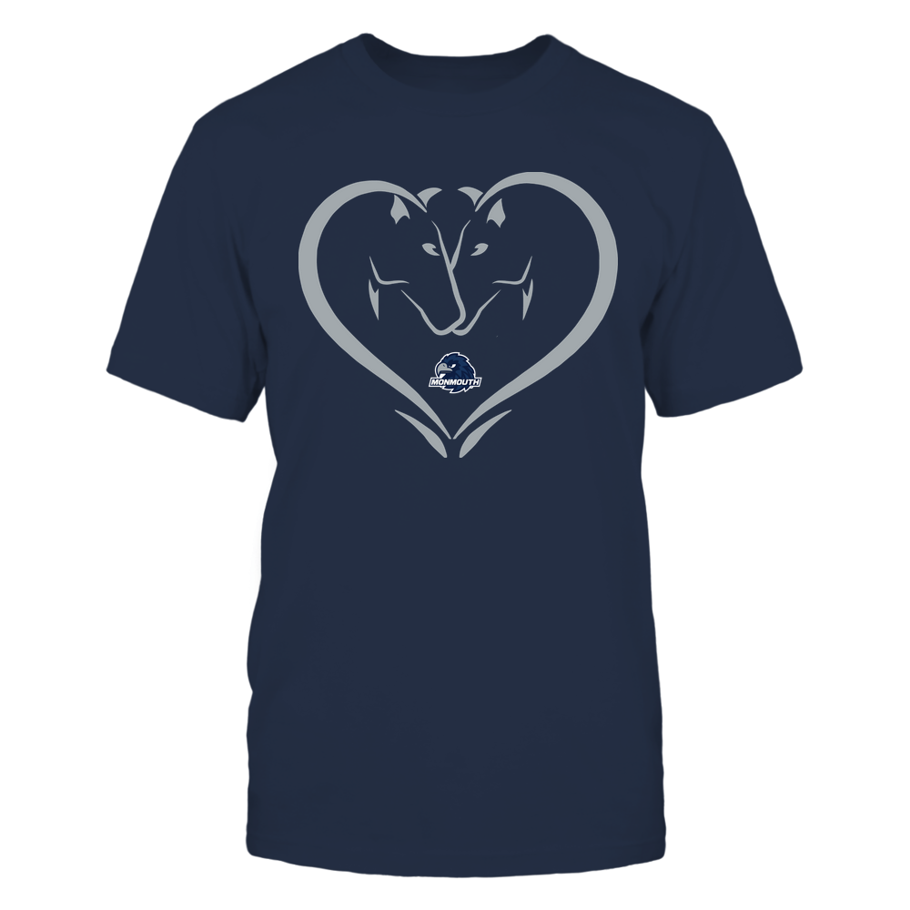 Monmouth Hawks - Dual Horses - Heart Shape - Team Front picture