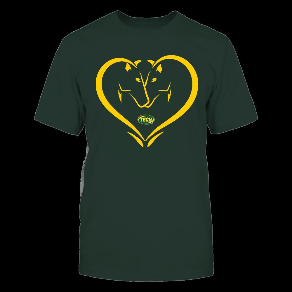 Arkansas Tech Golden Suns - Dual Horses - Heart Shape - Team Front picture