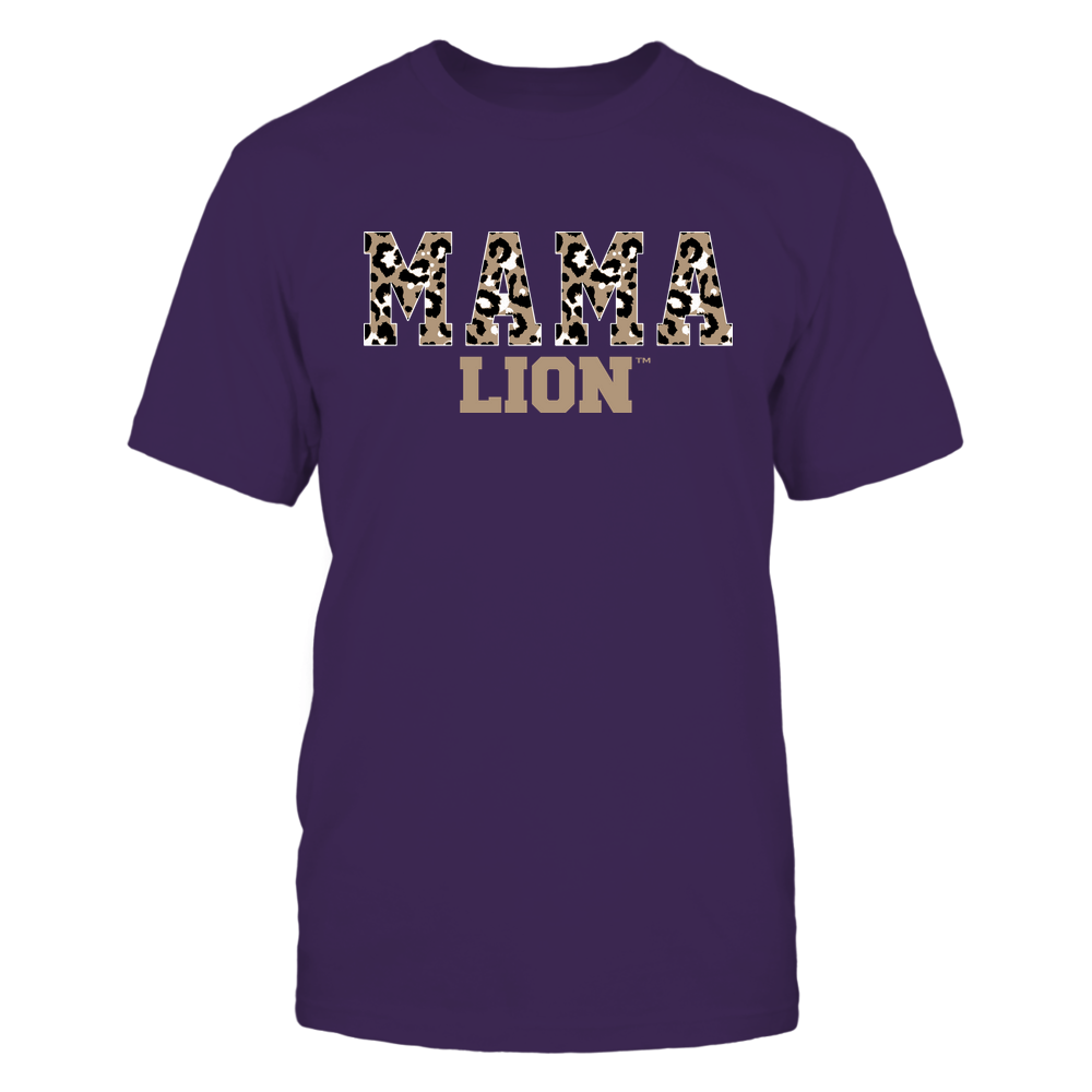 North Alabama Lions - Mama - Mascot - Slogan Pattern Front picture