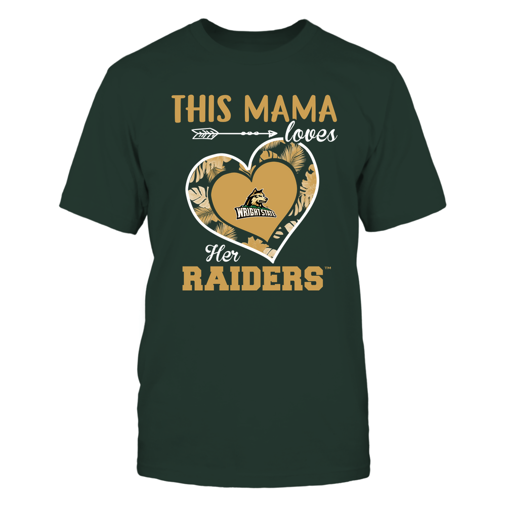 Wright State Raiders - This Mama - Loves Her Team - Heart Foliage Front picture
