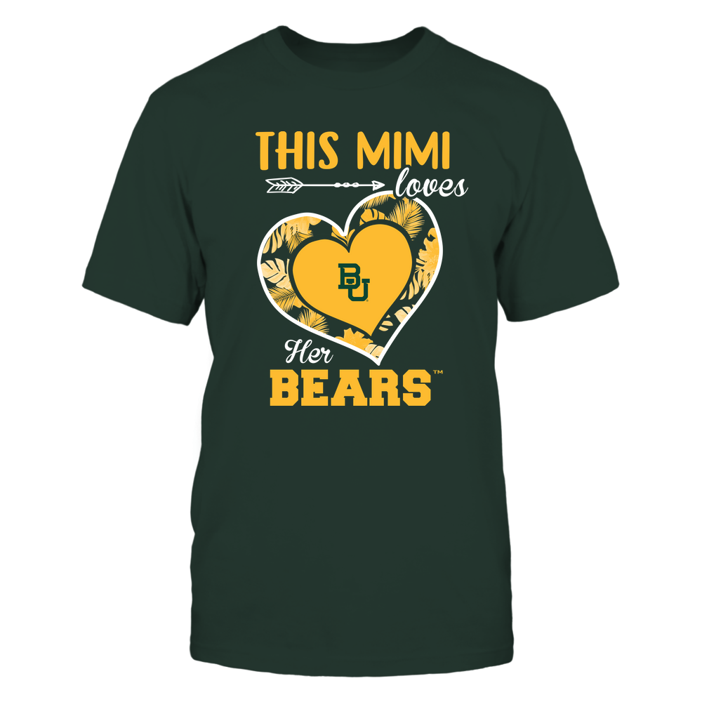 Baylor Bears - This Mimi - Loves Her Team - Heart Foliage Front picture