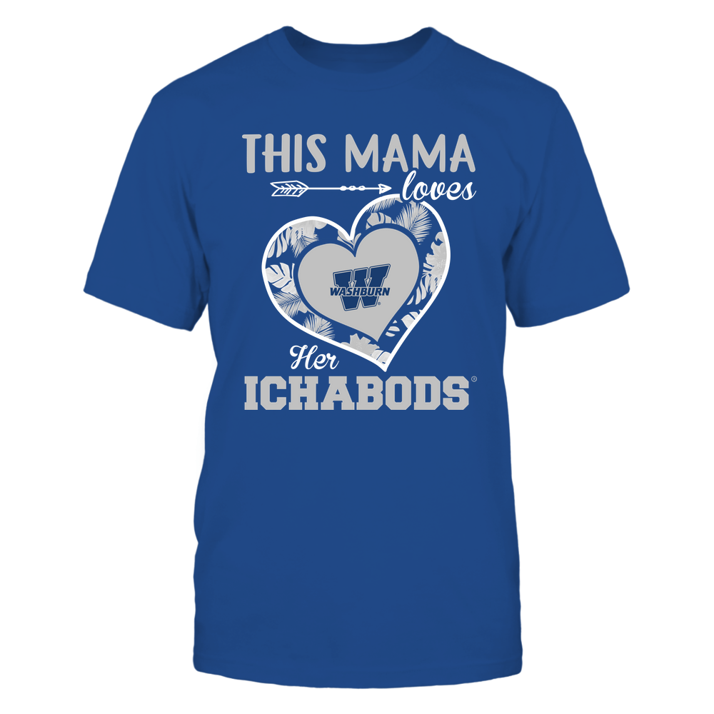 Washburn Ichabods - This Mama - Loves Her Team - Heart Foliage Front picture