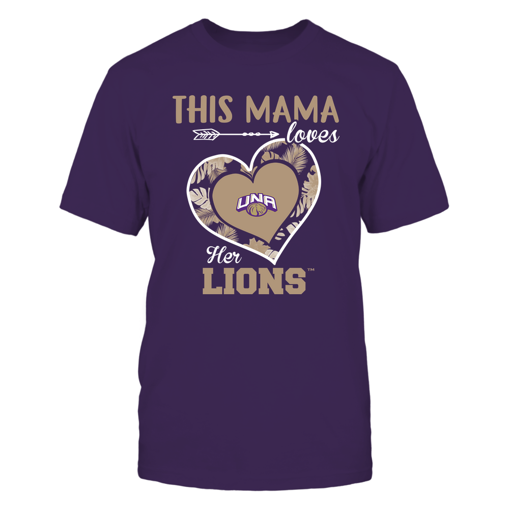 North Alabama Lions - This Mama - Loves Her Team - Heart Foliage Front picture