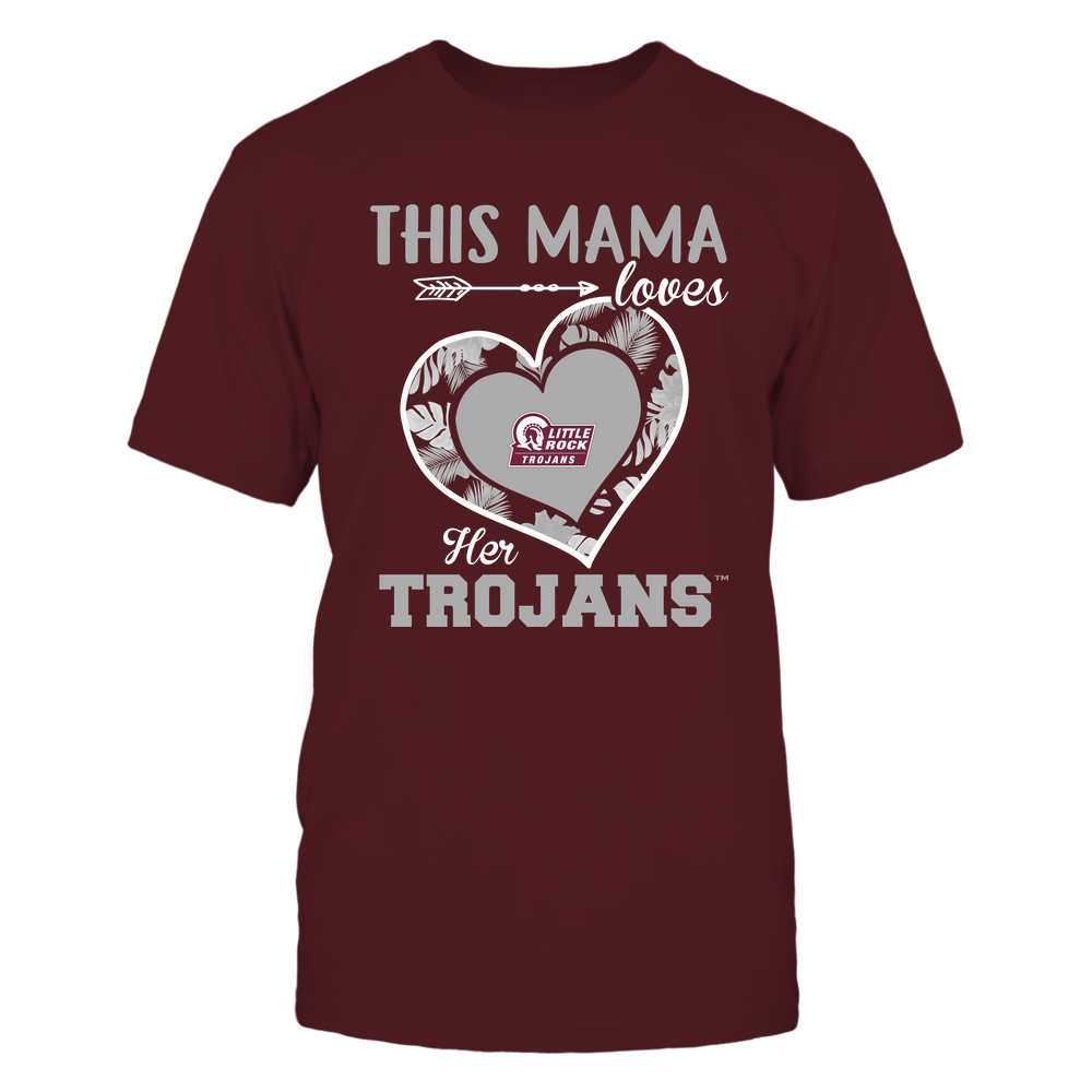 Arkansas Little Rock Trojans - This Mama - Loves Her Team - Heart Foliage Front picture