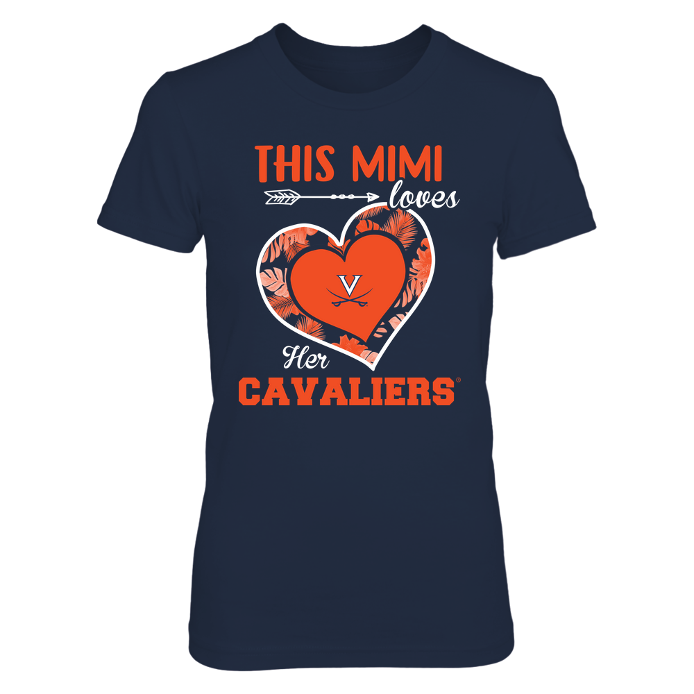 Virginia Cavaliers - This Mimi - Loves Her Team - Heart Foliage Front picture