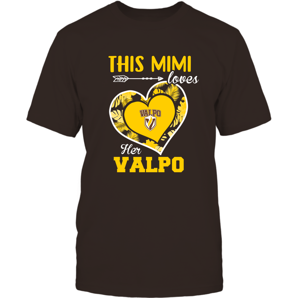 Valparaiso Crusaders - This Mimi - Loves Her Team - Heart Foliage Front picture