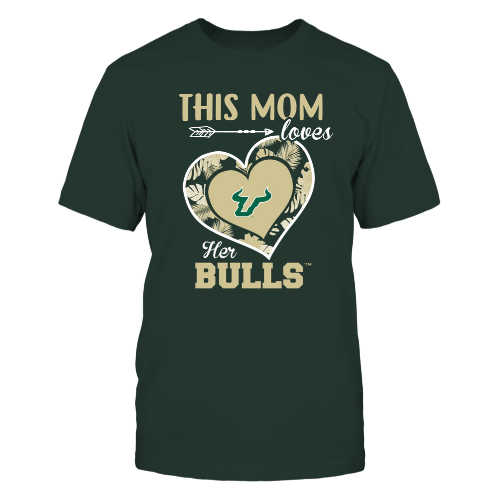 South Florida Bulls - This Mom - Loves Her Team - Heart Foliage Front picture
