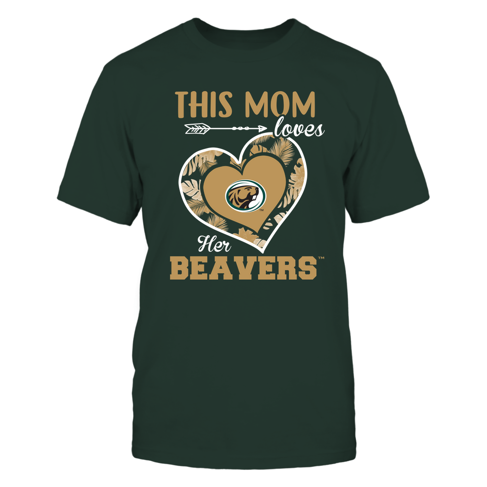 Bemidji State Beavers - This Mom - Loves Her Team - Heart Foliage Front picture