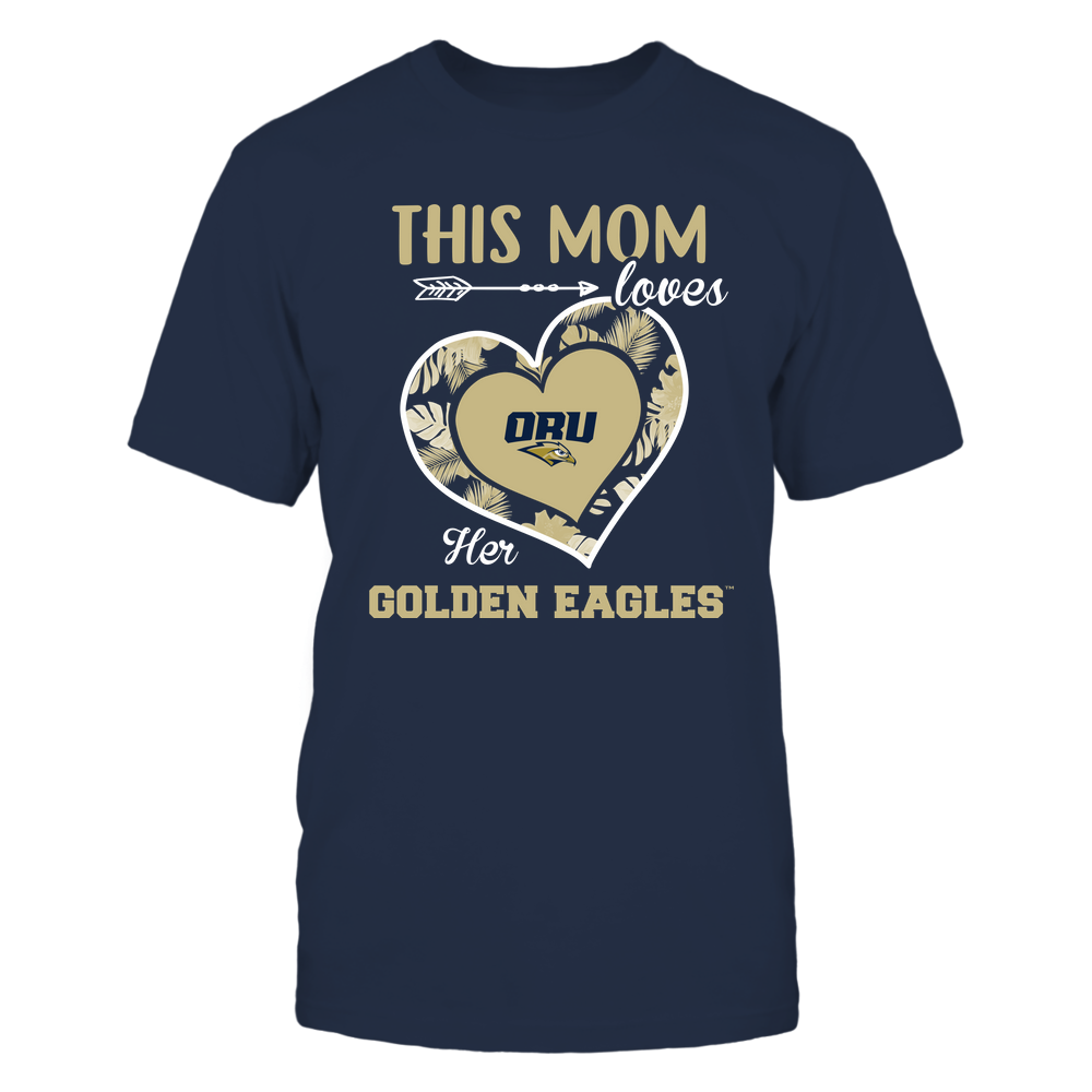 Oral Roberts Golden Eagles - This Mom - Loves Her Team - Heart Foliage Front picture