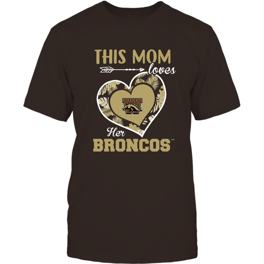 Western Michigan Broncos - This Mom - Loves Her Team - Heart Foliage Front picture