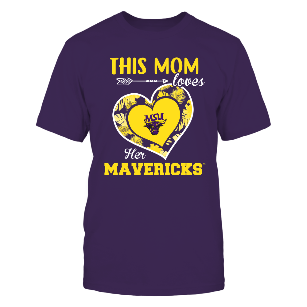Minnesota State Mavericks - This Mom - Loves Her Team - Heart Foliage Front picture