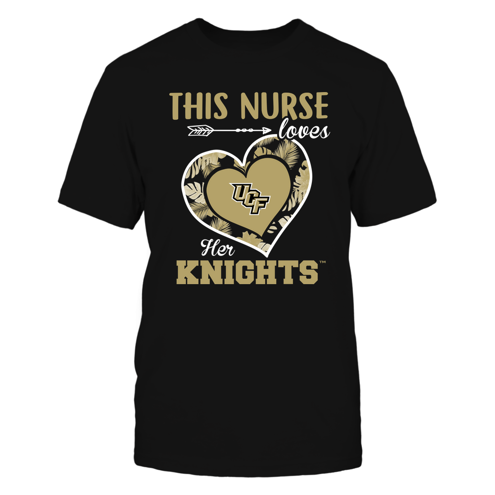UCF Knights - This Nurse - Loves Her Team - Heart Foliage Front picture