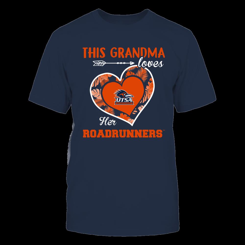 UTSA Roadrunners - This Grandma - Loves Her Team - Heart Foliage Front picture