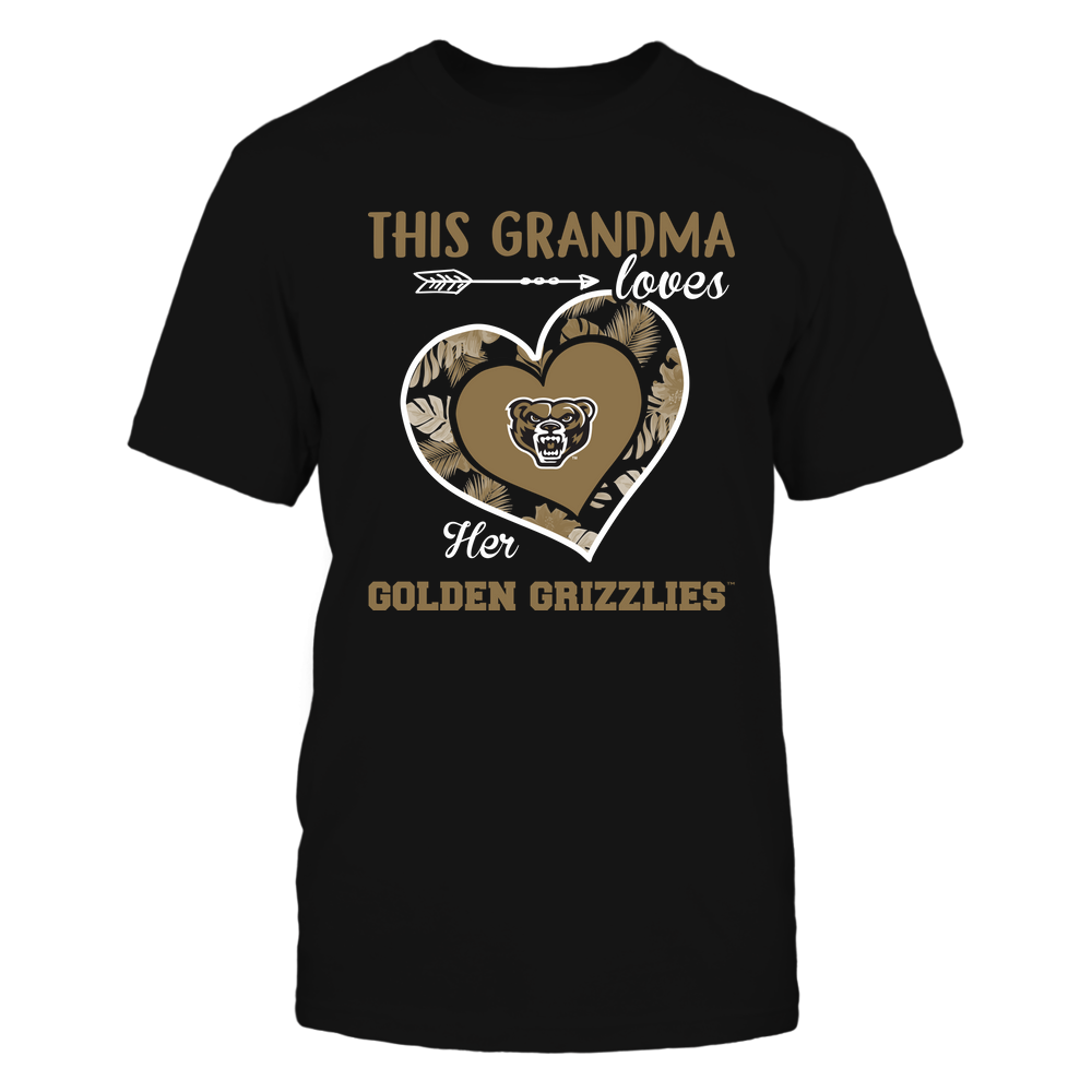 Oakland Golden Grizzlies - This Grandma - Loves Her Team - Heart Foliage Front picture