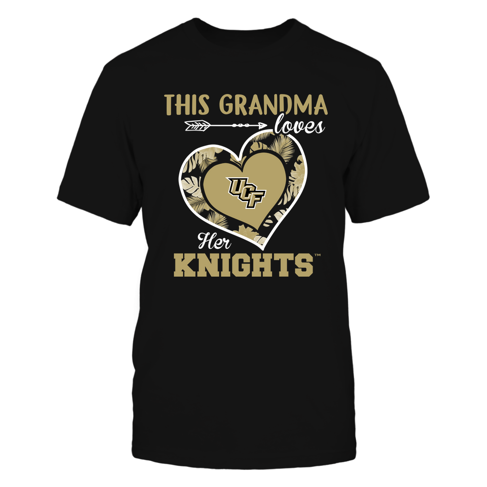 UCF Knights - This Grandma - Loves Her Team - Heart Foliage Front picture