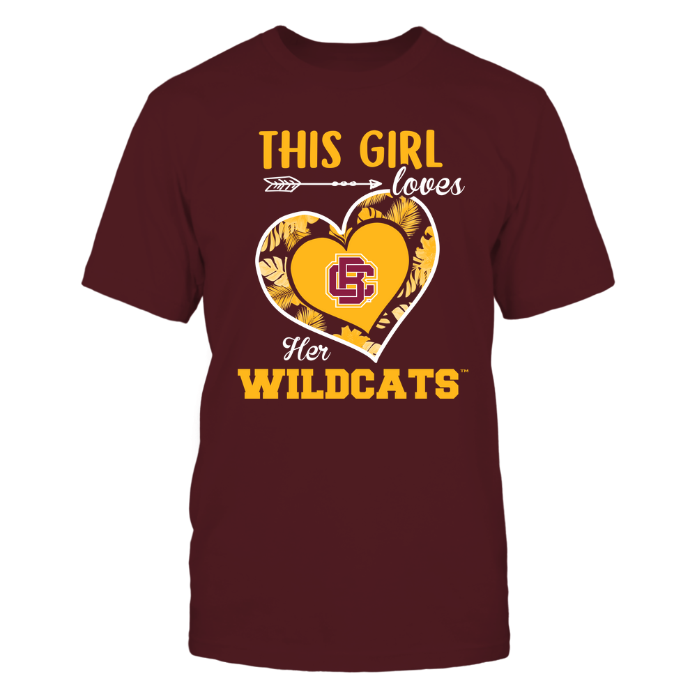Bethune-Cookman Wildcats - This Girl - Loves Her Team - Heart Foliage Front picture