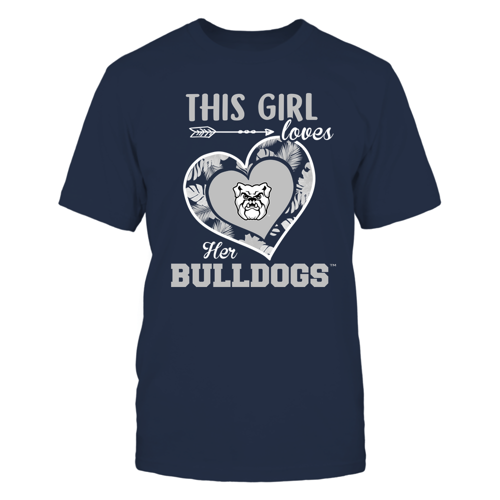 Butler Bulldogs - This Girl - Loves Her Team - Heart Foliage Front picture