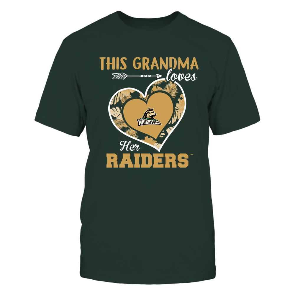 Wright State Raiders - This Grandma - Loves Her Team - Heart Foliage Front picture