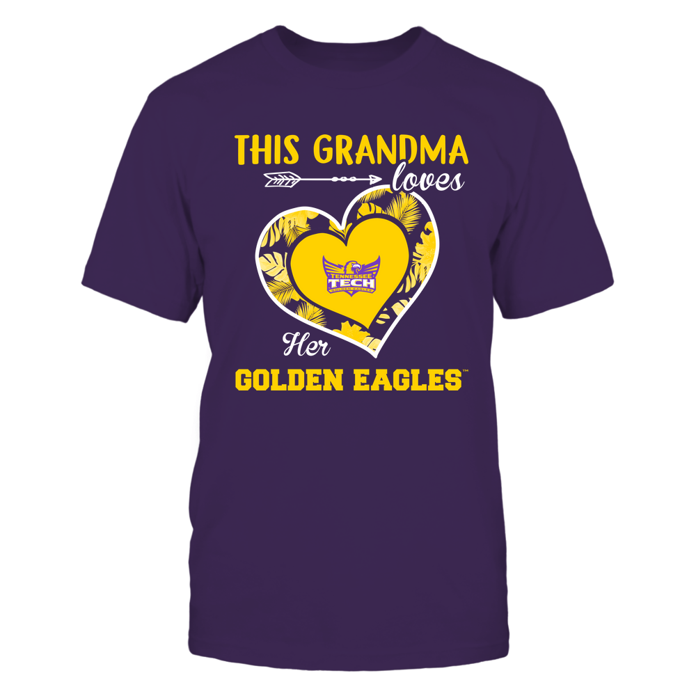 Tennessee Tech Golden Eagles - This Grandma - Loves Her Team - Heart Foliage Front picture