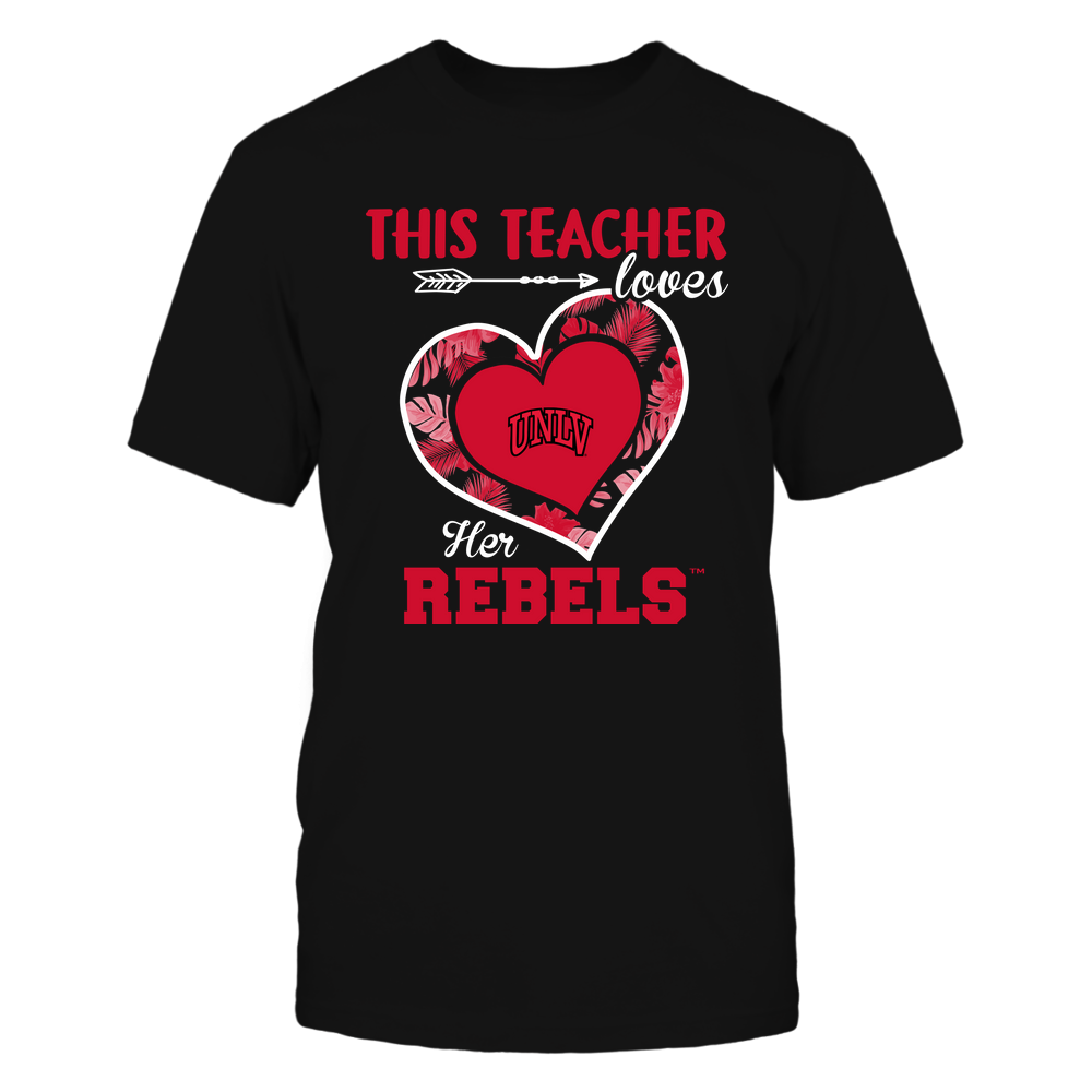 UNLV Rebels - This Teacher - Loves Her Team - Heart Foliage Front picture