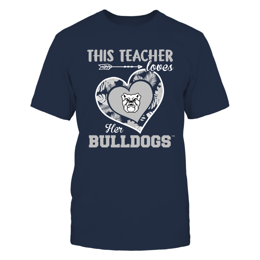 Butler Bulldogs - This Teacher - Loves Her Team - Heart Foliage Front picture