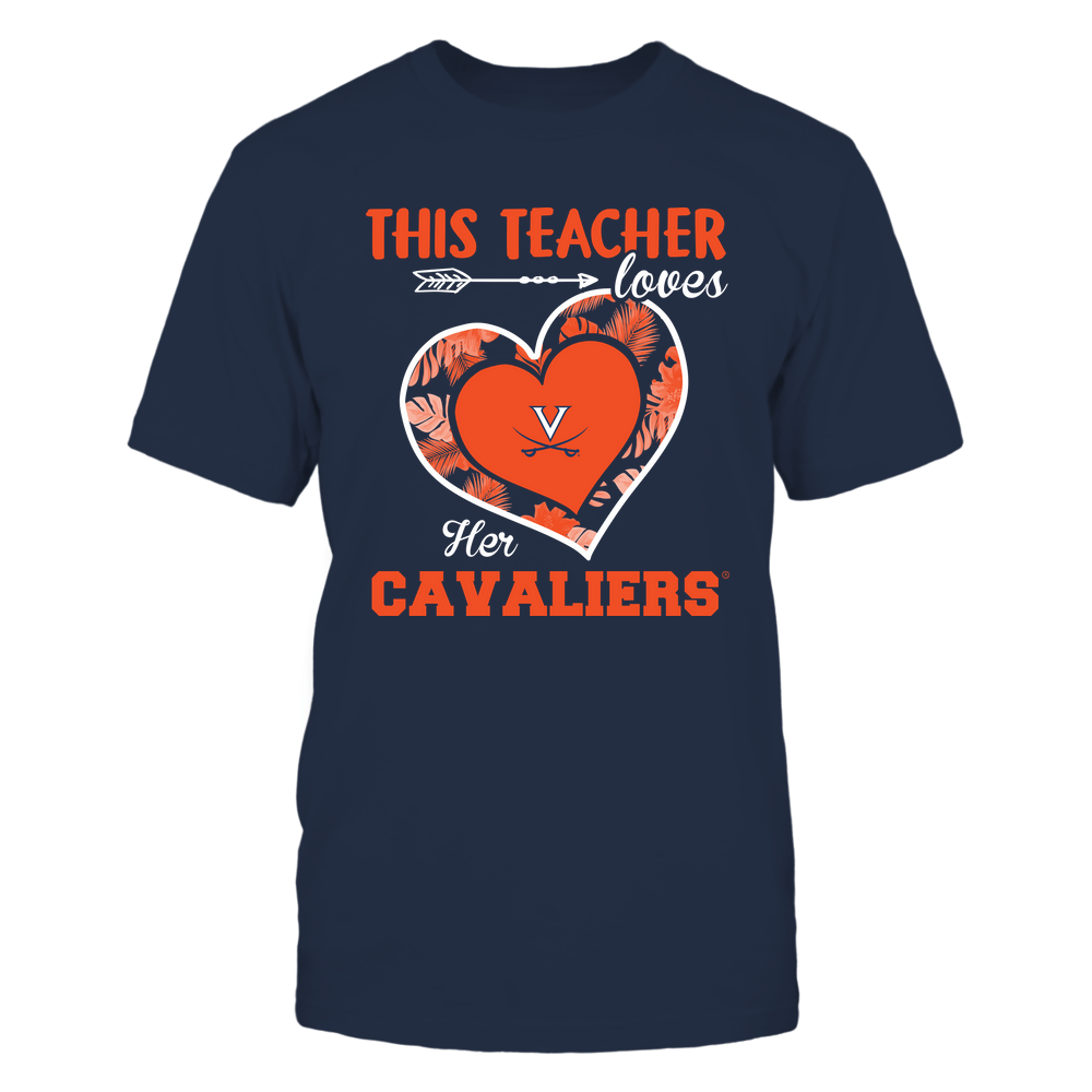 Virginia Cavaliers - This Teacher - Loves Her Team - Heart Foliage Front picture