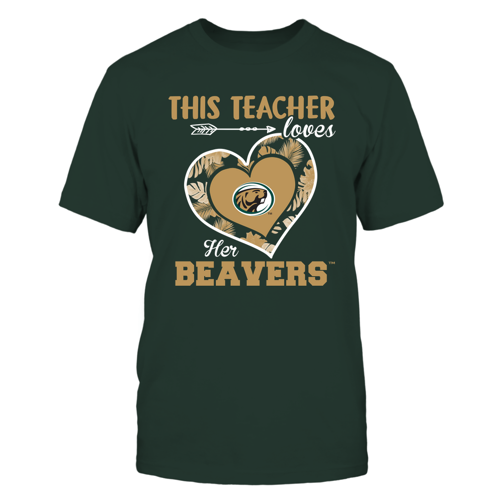 Bemidji State Beavers - This Teacher - Loves Her Team - Heart Foliage Front picture
