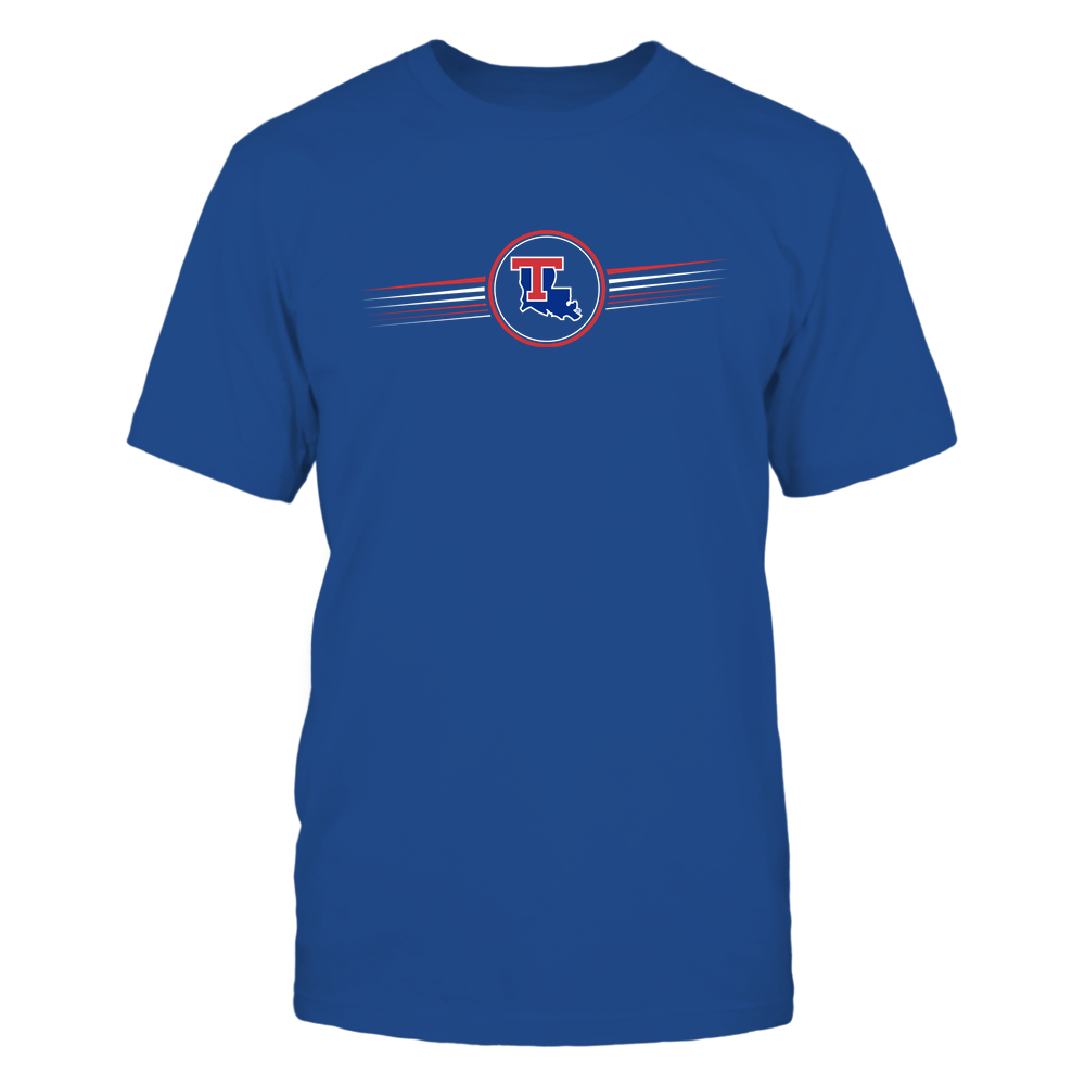Louisiana Tech Bulldogs - Horizontal Stripes - Logo Front picture