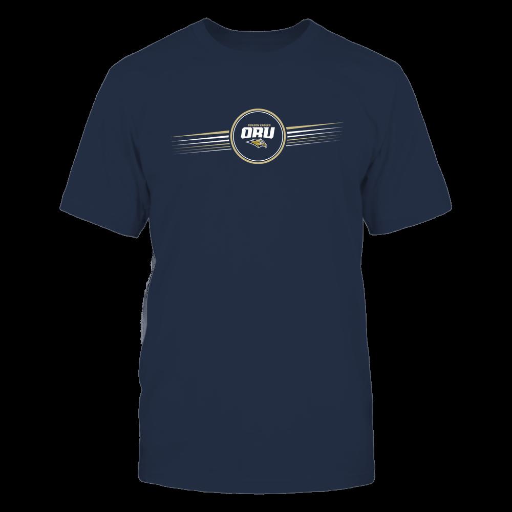 Oral Roberts Golden Eagles - Horizontal Stripes - Logo Front picture