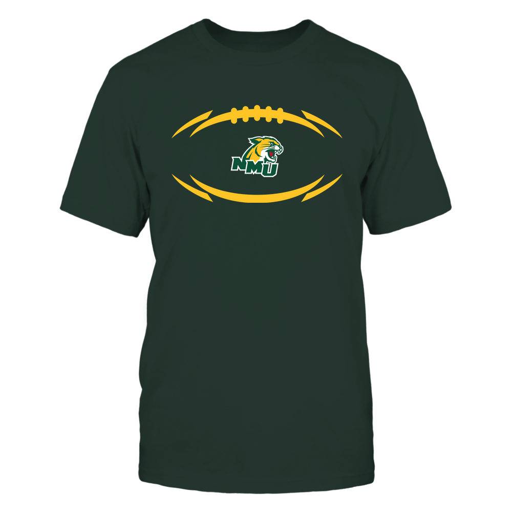 Northern Michigan Wildcats - Modern Football 2 - Logo Front picture