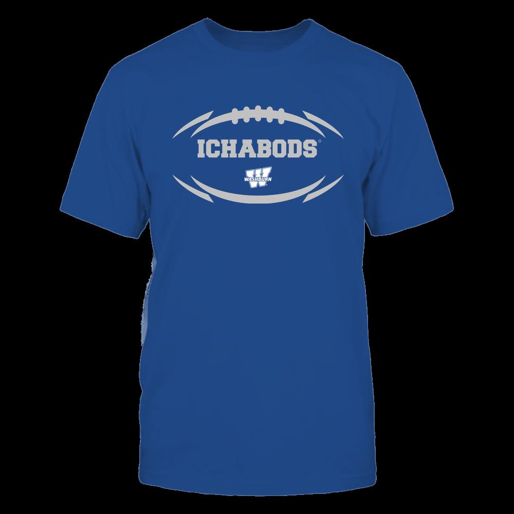 Washburn Ichabods - Modern Football 2 - Mascot - Logo Front picture