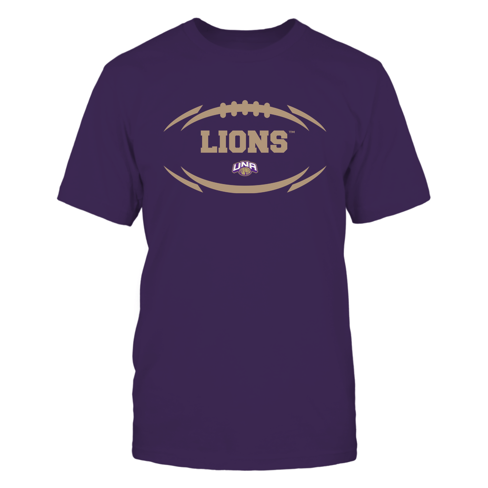 North Alabama Lions - Modern Football 2 - Mascot - Logo Front picture
