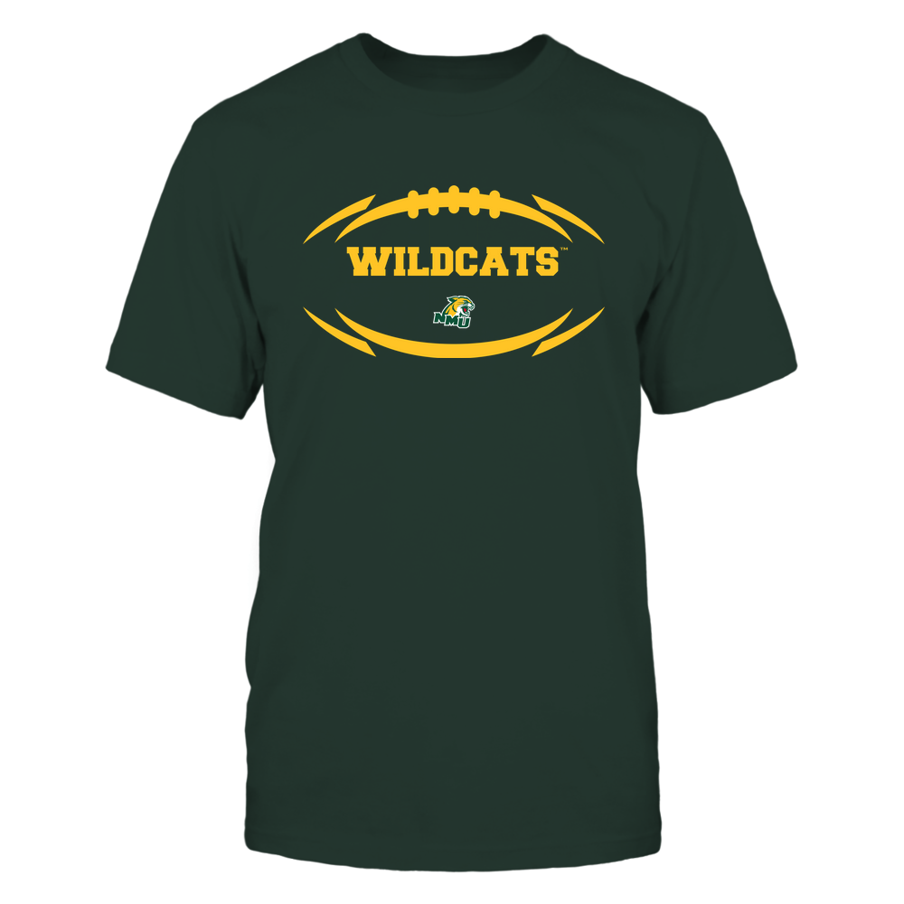 Northern Michigan Wildcats - Modern Football 2 - Mascot - Logo Front picture