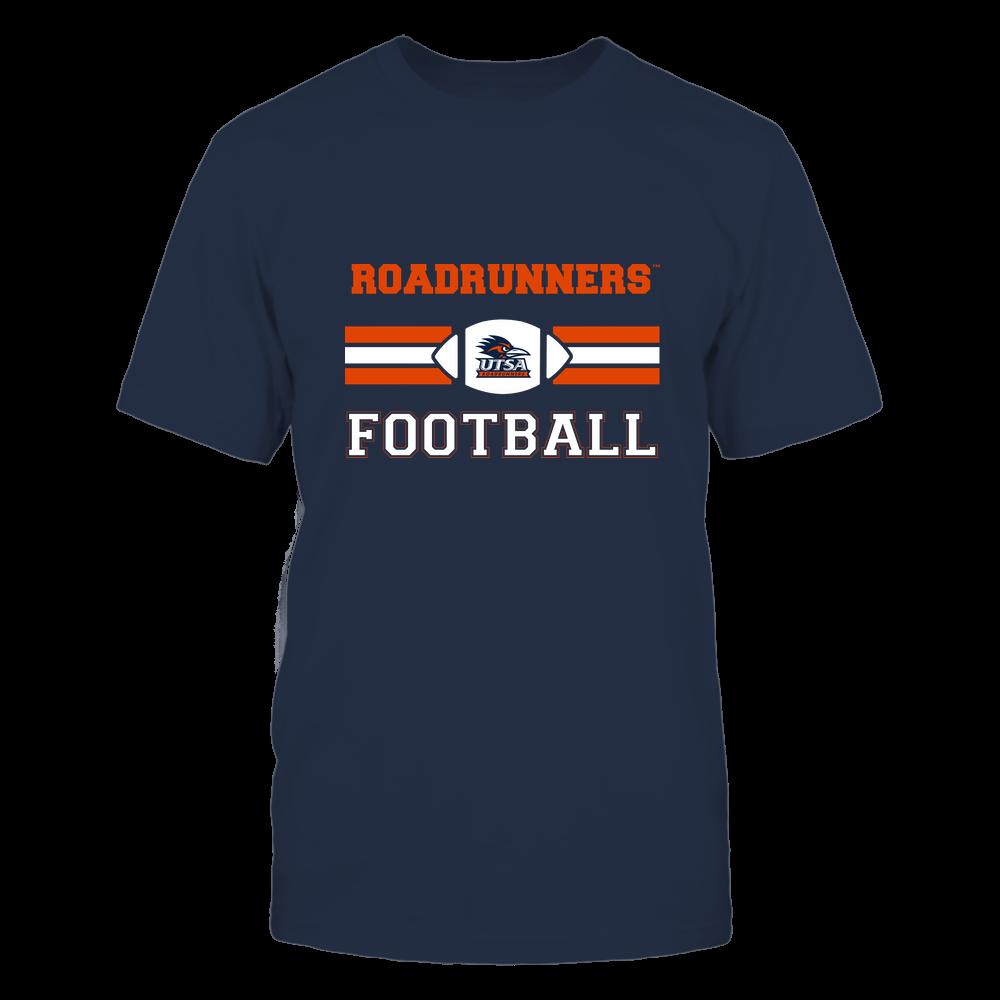UTSA Roadrunners - Football - Center Logo - Retro Stripes Front picture