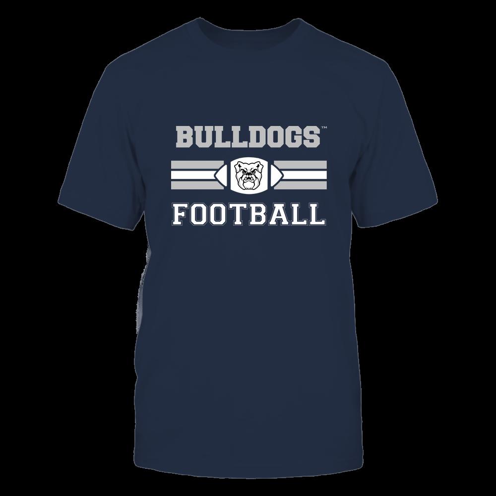 Butler Bulldogs - Football - Center Logo - Retro Stripes Front picture