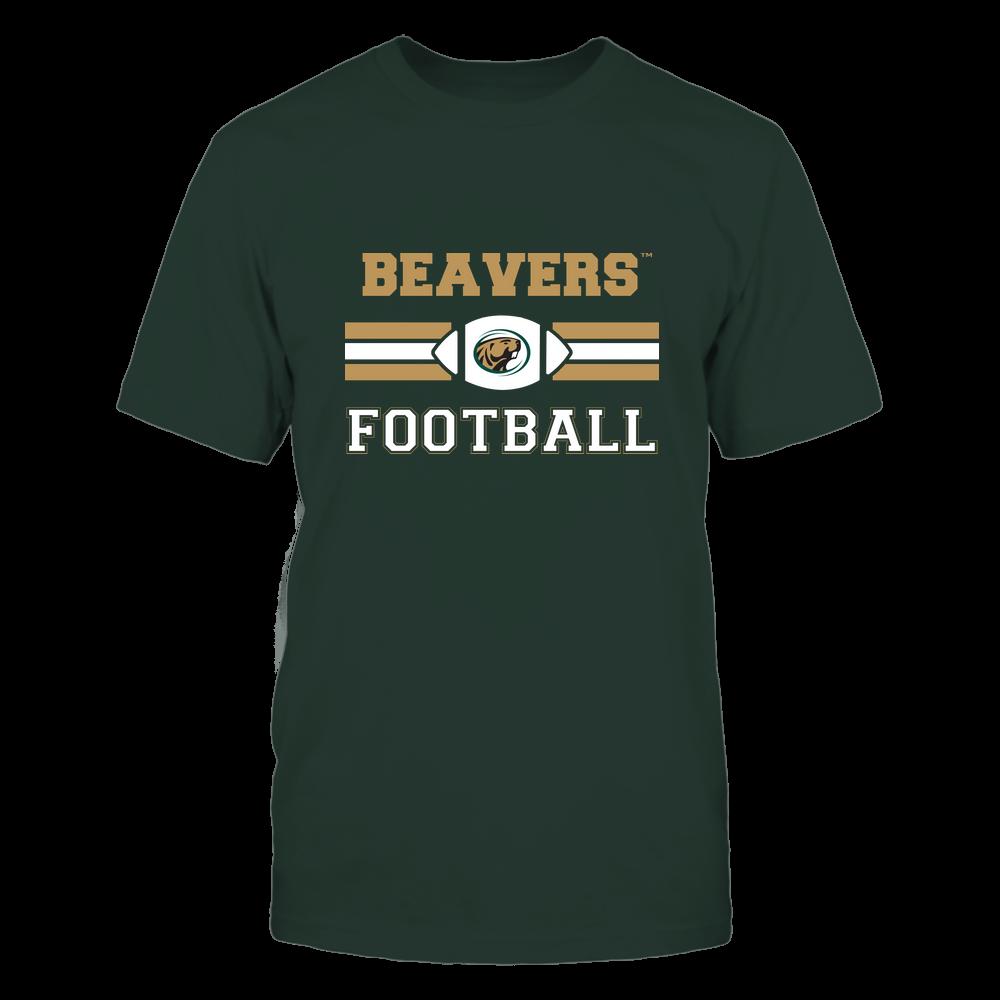 Bemidji State Beavers - Football - Center Logo - Retro Stripes Front picture