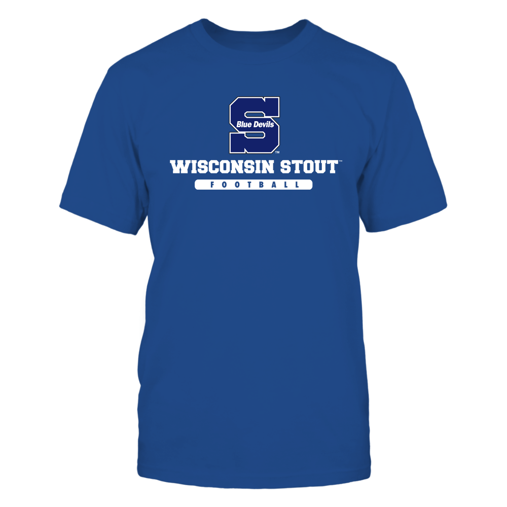Wisconsin Stout Blue Devils - School - Logo - Football Front picture