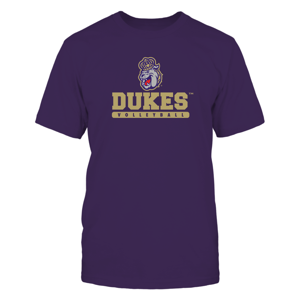 James Madison Dukes - Mascot - Logo - Volleyball Front picture