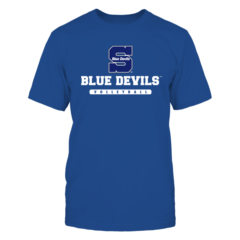 Wisconsin Stout Blue Devils - Mascot - Logo - Volleyball Front picture
