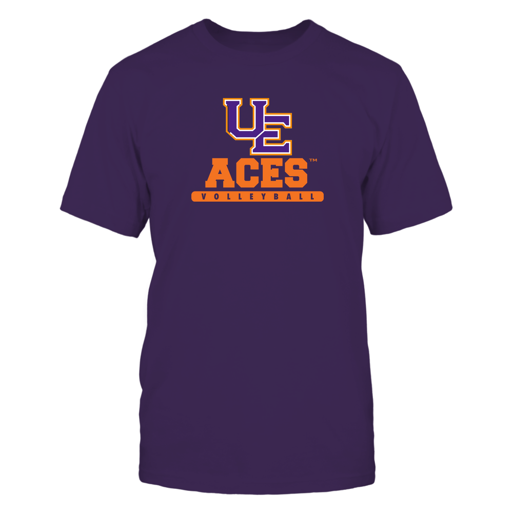 Evansville Purple Aces - Mascot - Logo - Volleyball Front picture