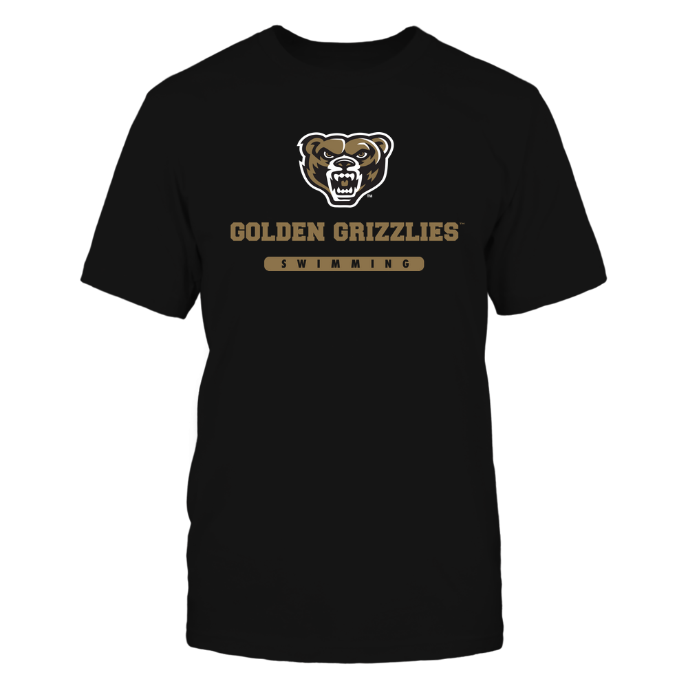 Oakland Golden Grizzlies - Mascot - Logo - Swimming Front picture