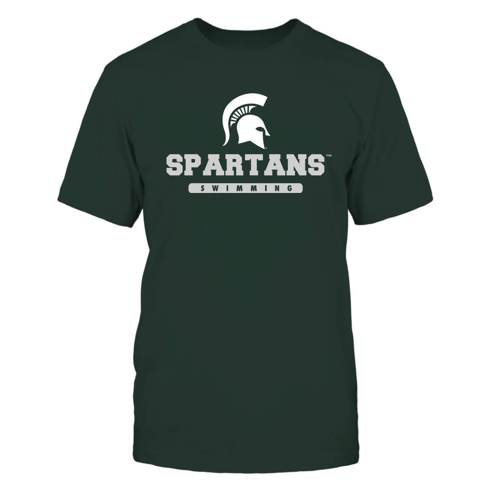 Michigan State Spartans - Mascot - Logo - Swimming Front picture