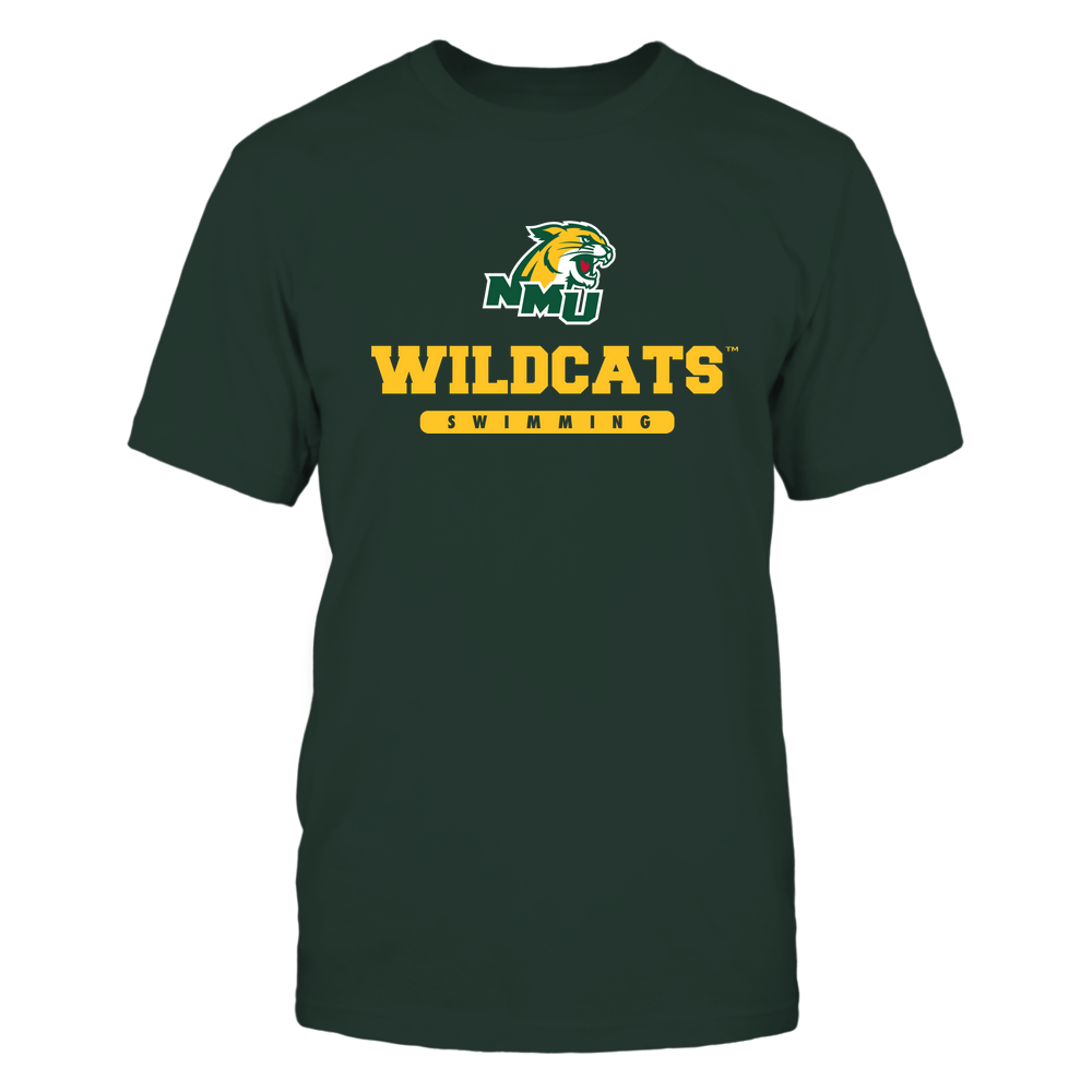 Northern Michigan Wildcats - Mascot - Logo - Swimming Front picture