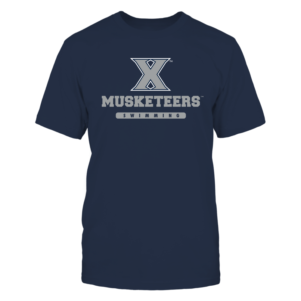 Xavier Musketeers - Mascot - Logo - Swimming Front picture