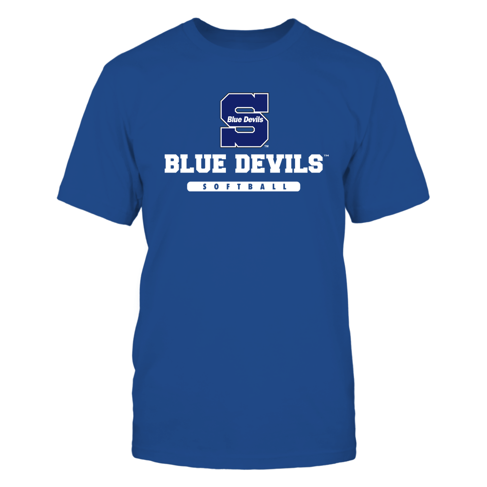 Wisconsin Stout Blue Devils - Mascot - Logo - Softball Front picture