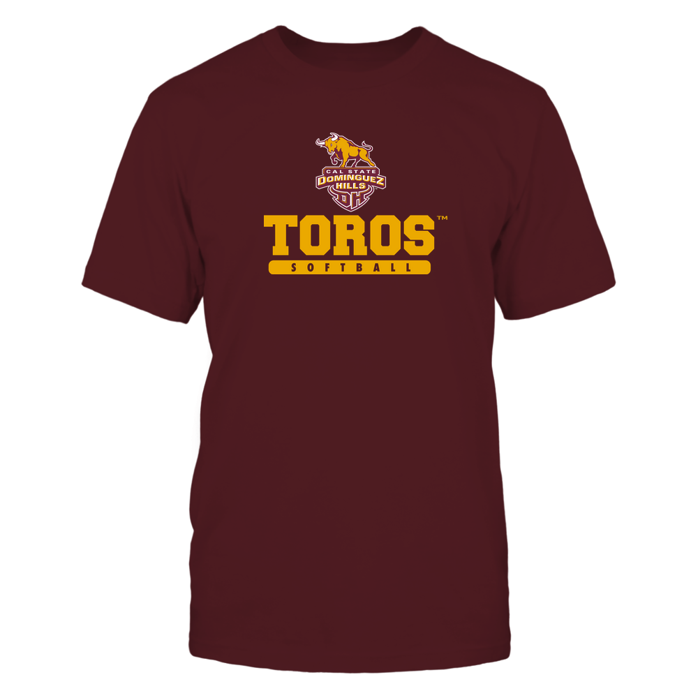 Cal State Dominguez Hills Toros - Mascot - Logo - Softball Front picture